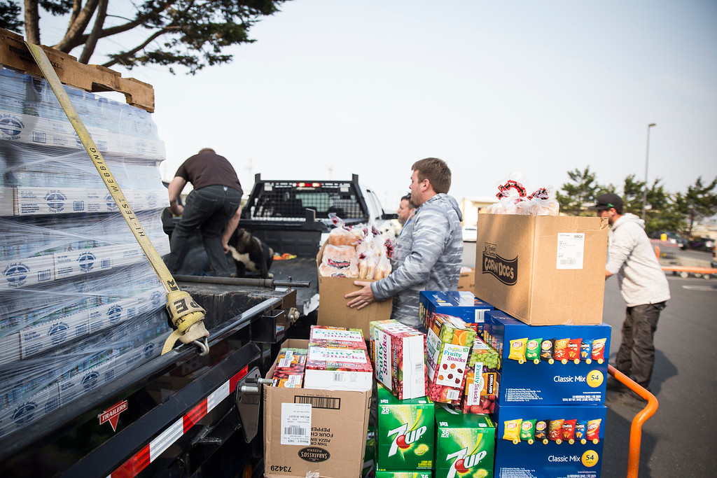 . Rex Bohn said he is bringing down his barbecue and tons of food to cook for people in Santa Rosa. (Sam Armanino - The Times-Standard)