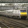 Pulling into platform 4, 91129 leads 1D04 London KX - Leeds