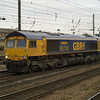66714 'Cromer Lifeboat' heads light engine on 0D47 Lackenby - Doncaster Down Decoy