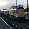 66745 heads through Barnetby with 4R18 Doncaster - Immingham