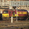 67028 basks in the autumn sunshine in Doncaster West Yard