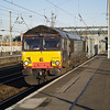 Still in DRS livery but operated by Freightliner, 66416 heads south through Donny with 4L87 Leeds - Felixstowe