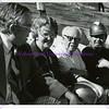 Thomas Dee, Elizabeth Stewart, Lawrence T. Dee, Joseph Bishop during Dee Events Center Construction, c. 1975