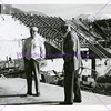 Lawrence T. Dee and Donnell Stewart during Dee Events Center Construction, November 1975