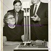 Stewarts and Dean Hurst with Bell Tower model, c. 1970