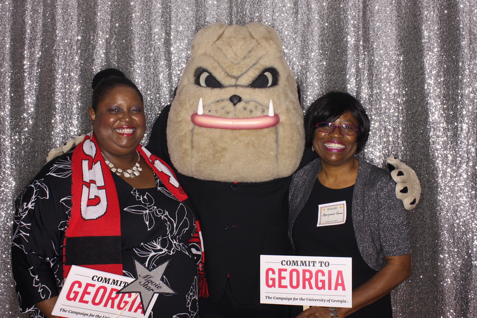faculty and staff members with hairy dawg