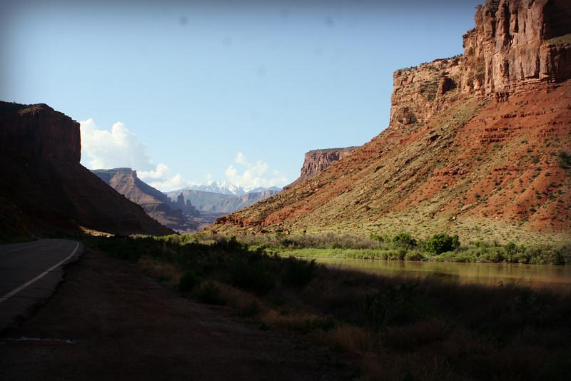 Driving along the Colorado River