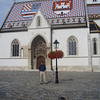 St. Mark's church in upper Zagreb was built in the 13th century, and is famous for it's colorful tile roof.