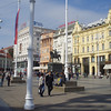 We had an afternoon in Zagreb, and walked up the hill to the old city.  This is Ban Jelacic square, a major pedestrian area, but we had to watch out for the streetcar which runs through the middle of the square.