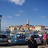 After Pula, our tour went to the town of Rovinj on the west coast of the Istrian peninsula.  Many of the old cities we visited extended out into the water to make them more defensible, often with city walls.