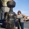Posing with the locals in Zagreb.