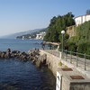 The Lungo Mare is a walkway that stretches for several miles along the waterfront, connecting Opatija and neighboring communities.  It's a nice place to stroll, and I went for an early morning run there.