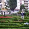 We stayed in the Hotel Opatija, originally built in 1888, and oozing with old-world charm and slightly faded glory.  There is a hedge maze out front, but I didn't worry about getting lost.