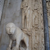 Feature on the door of the cathedral, completed in 1240 AD.