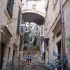 Inside the old city, lots of narrow streets and stairs