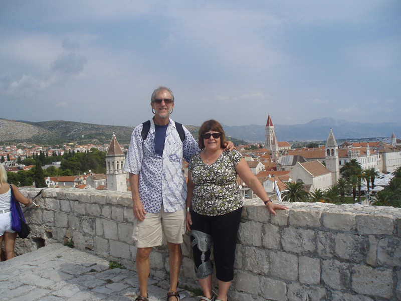 On the castle, built by the Venetians in the 15th century