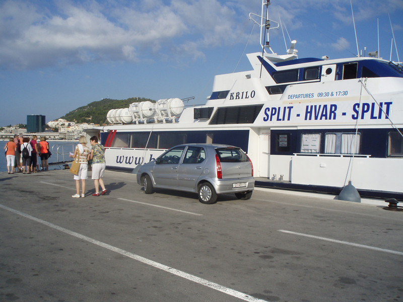 We took the ferry from Split to Hvar island for the day