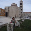 In Zadar, there is a mix of Roman ruins and medieval churches (this is the Church of St. Donatus, from the 9th century).
