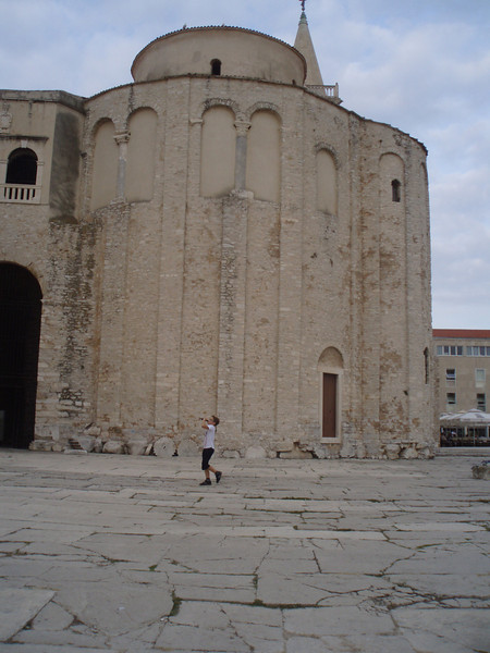 Church of St. Donatus - local boys were kicking a soccer ball against it when we were there