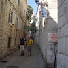 Our hotel was just up this street, in an old section of town about a half mile from Diocletian's Palace