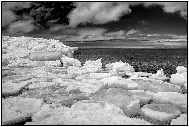 Icy Lake Michigan