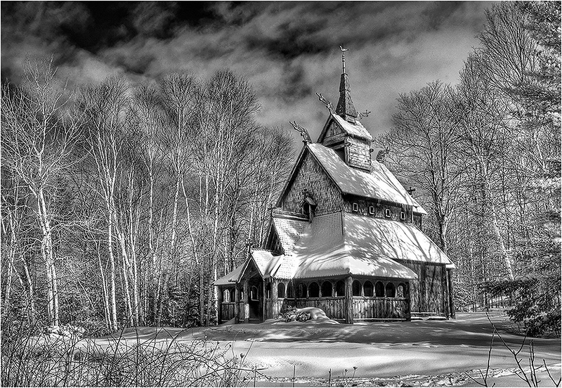 Stave Church in Winter