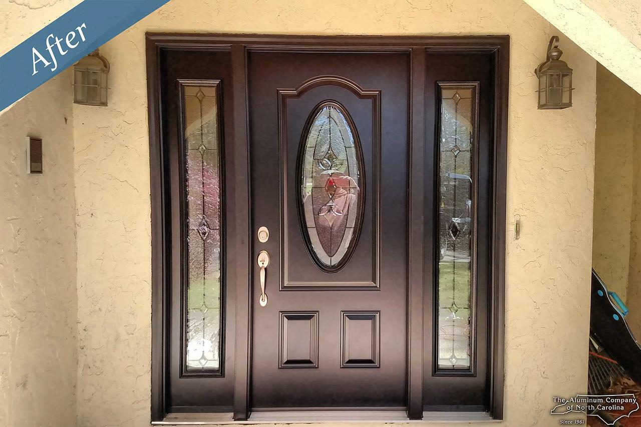 Double doors with sidelites