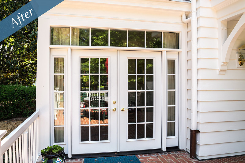 Doors with sidelites and transom