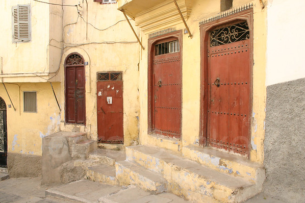 Red doors, Tangier, Morocco
