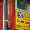 Window, Atelier sign, La Boca, Buenos Aires, Argentina