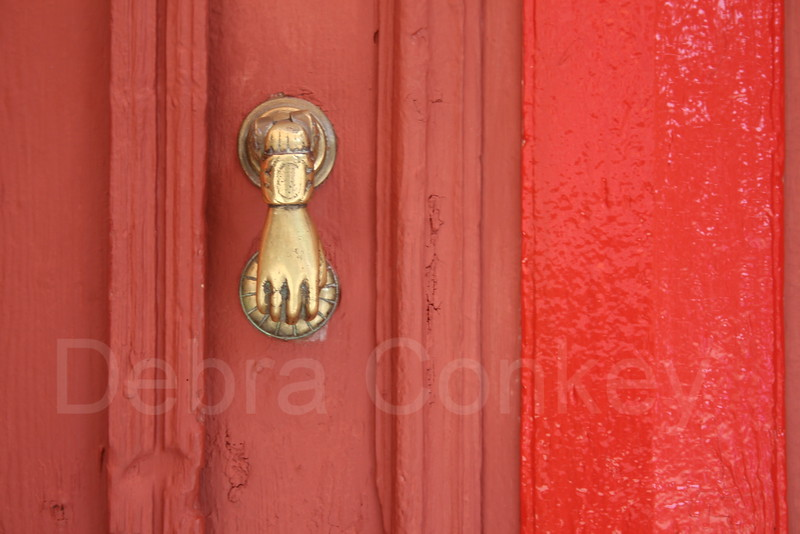 Red Door with Hand of Fatima, Kas, Turkey