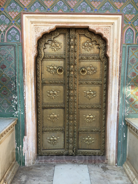 Brass Door, Rose Gate, CIty Palace, Jaipur, India