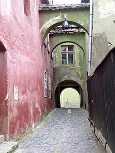 Alleyway, Sigisoara, Romania
