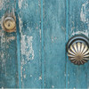 Blue door and knob, Venice, Italy