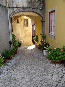 Courtyard, Evora, Portugal