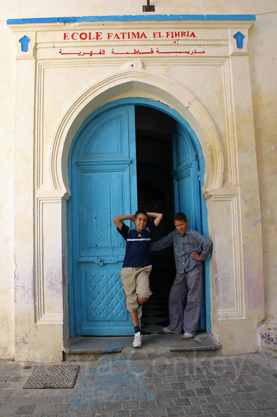 Boys at school, Ecole Fatima, Tangier, Morocco