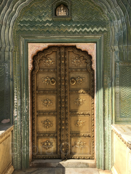 Brass door, Green Gate, City Palace, Jaipur, India
