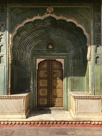 Green Gate, City Palace, Pink City, Jaipur, India