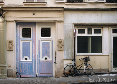 Blue Doors & Bicycle