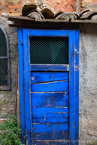 Hidden Blue Wooden Door