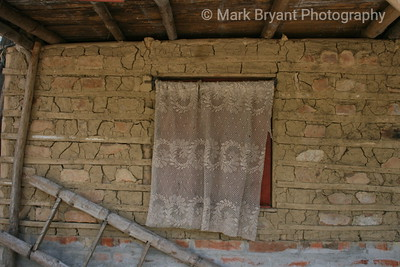 Window treatment in a mud house