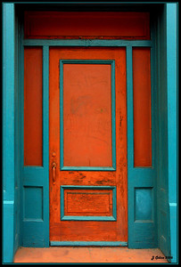 Orange and Aqua Doorway