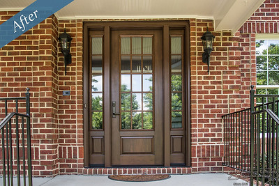 Entry doors with side lights by the AluminumCompany.com