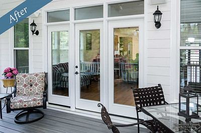 Triple french doors with transom by the AluminumCompany.com