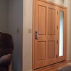 "Interior of custom 42"" entry door and sidelight"