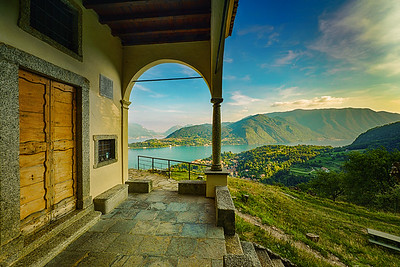 San Martino's views over Lake Como