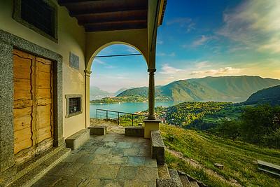 San Martino's views over Lake Como