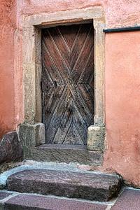 Tiny door in Castelrotto, Italy