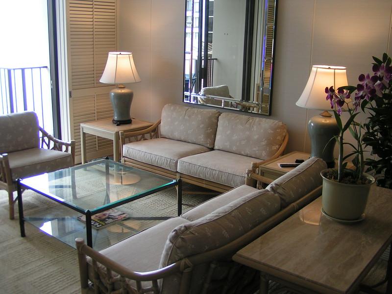 Living Area 1-bedroom Suite Halekulani