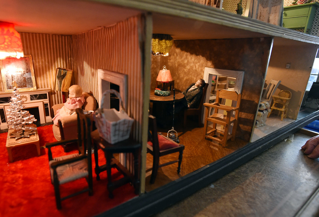 . A detail shot of two of the rooms in the dollhouse. Doris Hass, 97, of Boulder, still has  the dollhouse her father and paternal grandfather built for her around 1925 when the family lived on Long Island in New York.  Cliff Grassmick  Photographer January 12, 2018